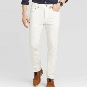 Goodfellow & Co Slim Lightweight White Denim Jeans